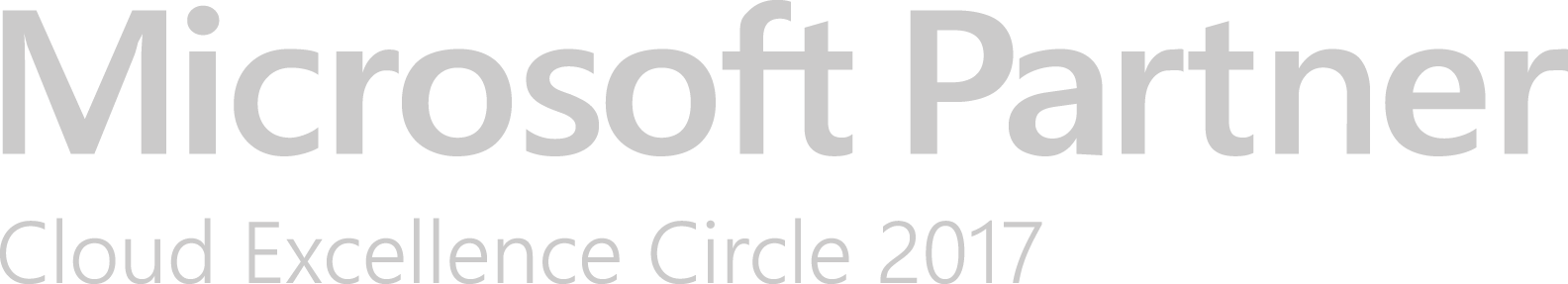 Microsoft Partner Cloud Excellence Circle 2017
